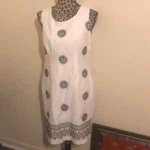 Talbots New Dress Embroidered 10P